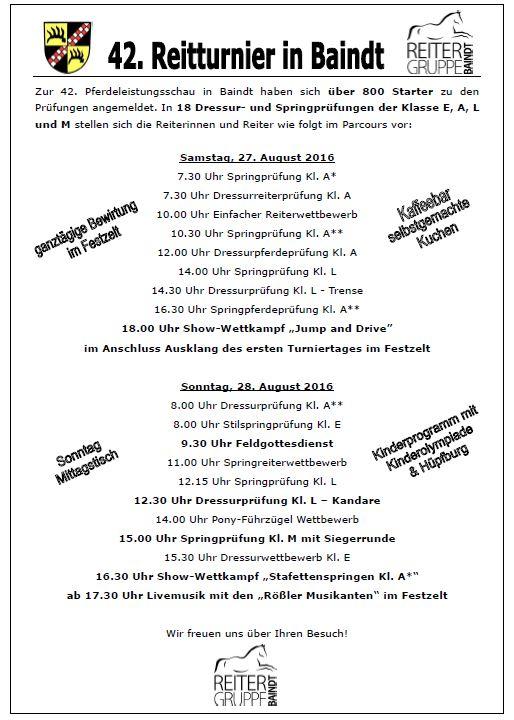 1. Seite Gemeindeblatt Reitturnier 20162