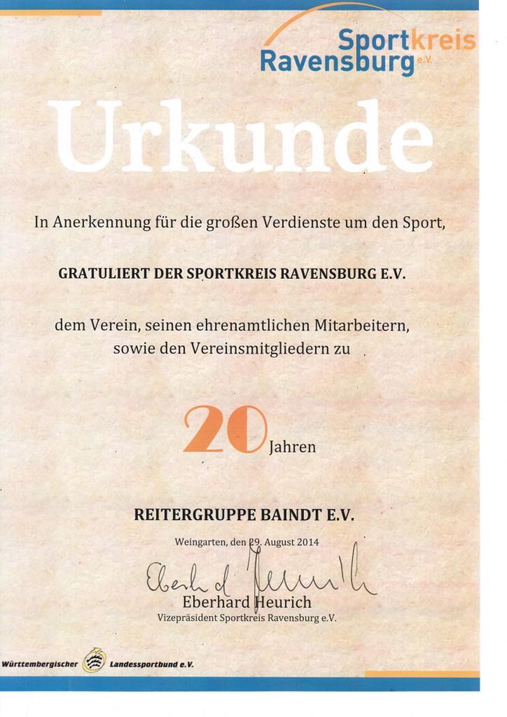 Urkunde Sportkreis